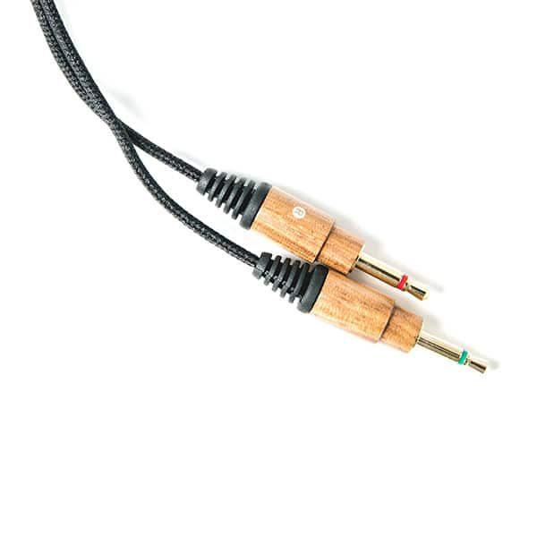 Fejhallgató Kábel Mikrofonnal És Hangerőszabályzóval - Zebrafa burkolattal az LSTN Fillmore és Troubadour fejhallgatókhoz