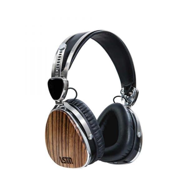 LSTN Troubadour Bluetooth fejhallgató zebrafából
